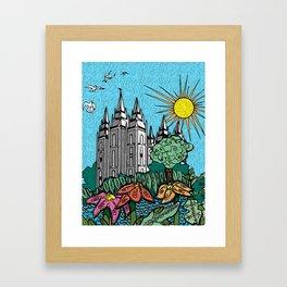 Salt Lake Temple in Spring Framed Art Print