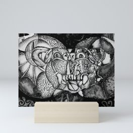 broken gargoyle Mini Art Print