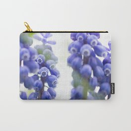 Peek-a-Blue Grape Hyacinth Carry-All Pouch