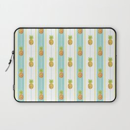 Vintage Glitter Pineapples Laptop Sleeve