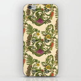 Botanical French Bulldog iPhone Skin