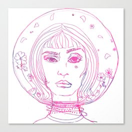 Barbarella Space Princess Canvas Print