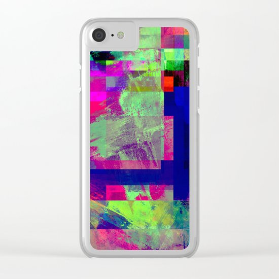 Pastel Geometry X - Abstract, goemetric, pastel coloured, textured artwork Clear iPhone Case