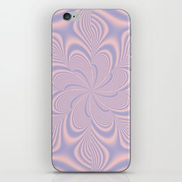 Whirly Bloom Fractal in Rose Quartz and Serenity iPhone Skin