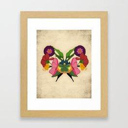 Rose-schach Framed Art Print