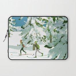 Cross Country Skiing Laptop Sleeve