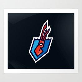 The Kraken Logo Art Print