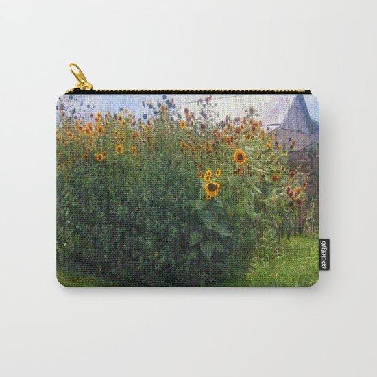 Sunflowers Overgrow the Barn Carry-All Pouch