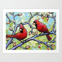 Two Cardinals Art Print