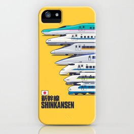 Shinkansen Bullet Train Evolution - Yellow iPhone Case