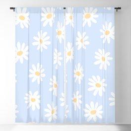 Daisies Baby Blue Blackout Curtain