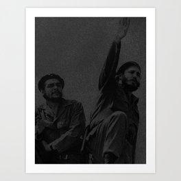 Che Guevara & Fidel Castro in 1961 Art Print