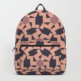 Digital Geometric Motif Rose palette Backpack