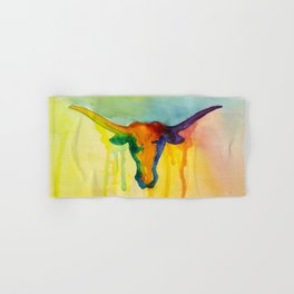 Colorful and Majestic Longhorn Hand & Bath Towel