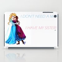 sisters iPad Cases featuring Sisters by Siney