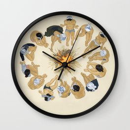 Finding Warmth Together Wall Clock