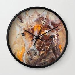 "Giraffe - Animal - ""Presence"" by LiliFlore Wall Clock"