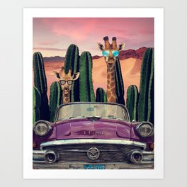 Giraffes are cool too Art Print