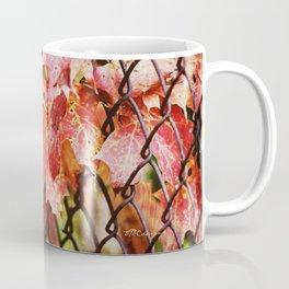 FALL FENCE LEAVES Coffee Mug