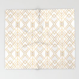 Golden Geo Throw Blanket