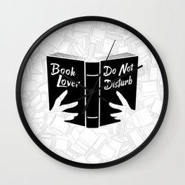 Book Lover, Do Not Disturb II Wall Clock