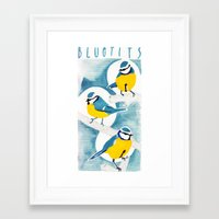 tits Framed Art Prints featuring Tits by Bex Bourne