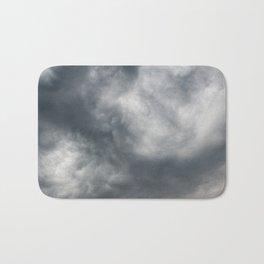 Gloomy billowy sky stormy weather Bath Mat