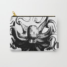 Cool Aqua animal Octopus sketch Carry-All Pouch