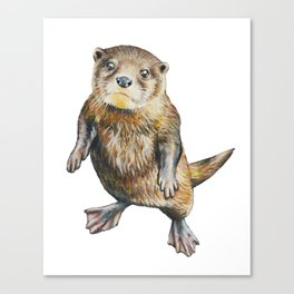 Otterly Adorable Canvas Print