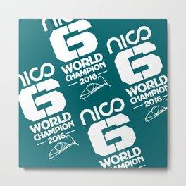 Nico Rosberg 2016 Champion Metal Print