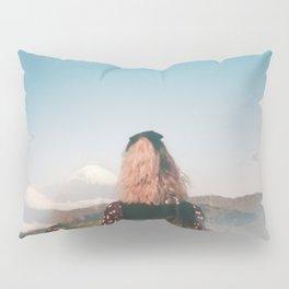 Girl Looking Out at Mount Fuji - Holga film photograph Pillow Sham