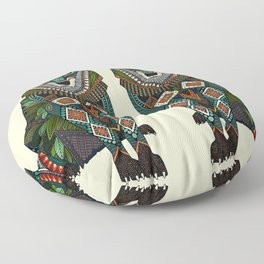 wolf ivory Floor Pillow