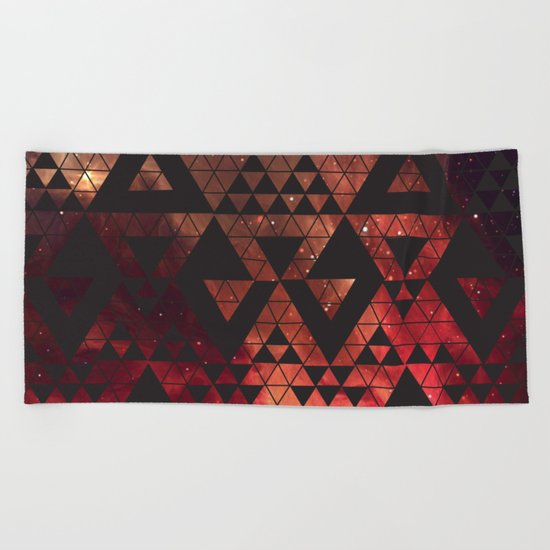 Space Triangles No. 3 Beach Towel