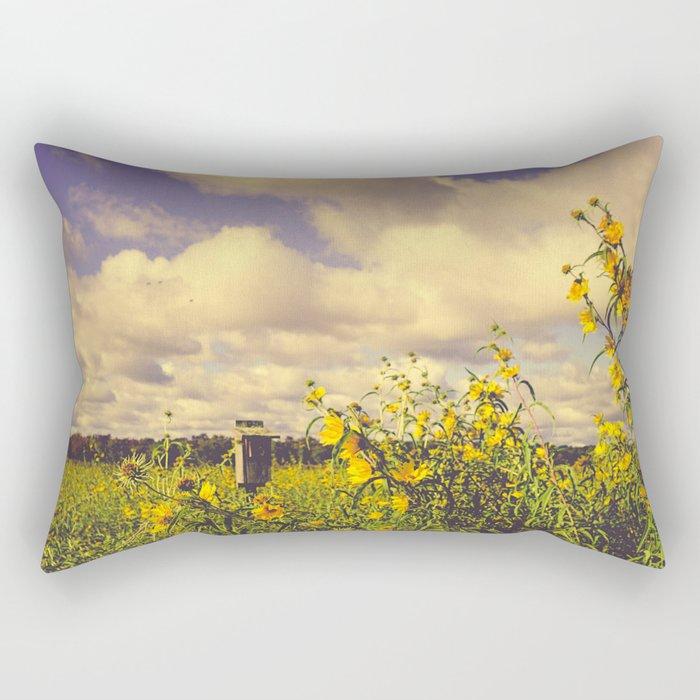 Field of Happiness Rectangular Pillow