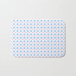 heart and love 2 - pink and blue Bath Mat