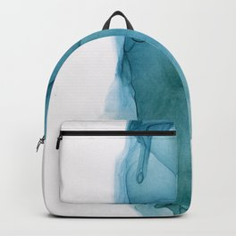 Indigo Teal Blue ink Abstract Backpack