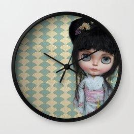 Japanese Doll by Erregiro Wall Clock