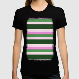 Pink Roses in Anzures 1 Stripes 4H T-shirt
