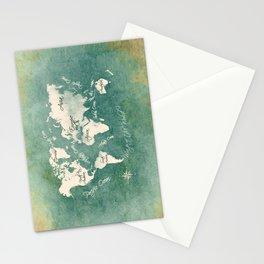 world map 151 green white #worldmap #map Stationery Cards