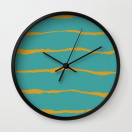 Rip stripes Wall Clock
