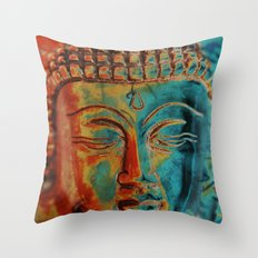 Colorful Buddha Throw Pillow