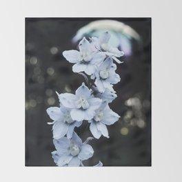 Delphinium Throw Blanket