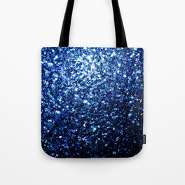 Beautiful Dark Blue glitter sparkles Tote Bag