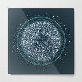 Glitterball Metal Print