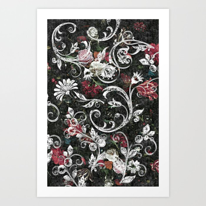 bling art  Baroque Bling Art Print by jokevermeer   Society6