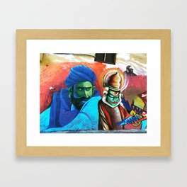 Suspicious Activity Framed Art Print