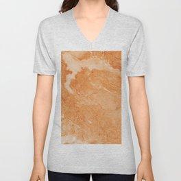 Brown & Beige Marble Unisex V-Neck