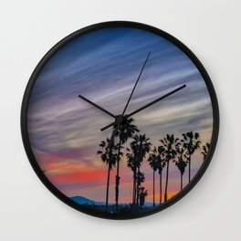 Sunrise at the River Jetties Wall Clock