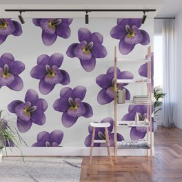 violet Blossoms of orchids II Wall Mural