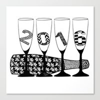new year Canvas Prints featuring New Year by Sophie H.